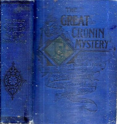 1889 True Crime Murder Dr. Cronin Illustrated First Edition Gift Idea Ireland
