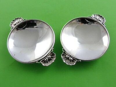 Beautiful PAIR of GEORG JENSEN STERLING SILVER DISHES, Art Deco