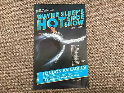 Original London Palladium Theatre Poster For Wayne Sleep's Hot Shoe Show