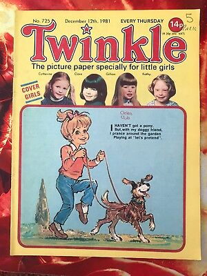 Twinkle  Comic No. 725. 12 Dec 1981. Dress Twinkle Page. Puzzles Not Done. Vfn+