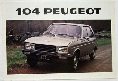 1978 Peugeot 104 3 and 5 Doors Sales Folder - French Text