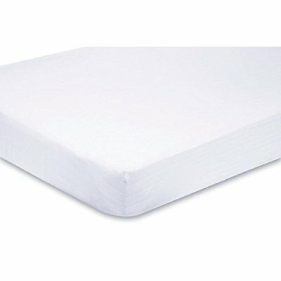 2 x Cot Fitted Sheets 100% Cotton - Very Soft Jersey Sheets(60 x 120 cm) (White)