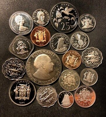 Old World Coin Lot - Proofs - 18 Awesome Assorted PROOF Coins - Lot #N19