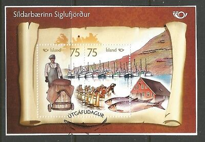 ICELAND 2010  NORDEN BY THE SEA (2) ON A PIECE, SCOTT 1256-1257, USED (o)