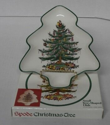 Spode England Christmas Tree Small Tree-Shaped Dish S3324-U - In Box - s2a