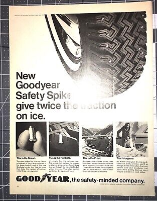 Life Magazine Ad GOOD YEAR Safety Spikes Tires Reverse YUBAN Coffee