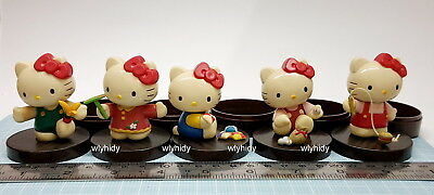 Sanrio Hello Kitty Vintage Game Figure Container 5 pcs only