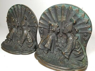 Vintage Chinese Bookends Solid Bronze, Original, Circa 1920