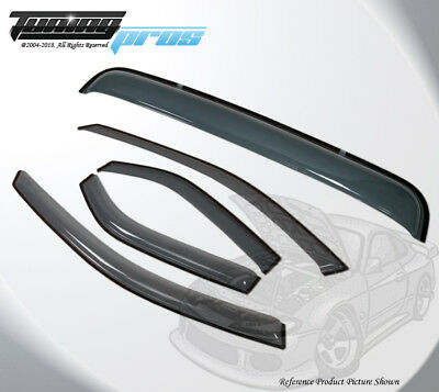 Outside Mount Rain Guards Visor Sun roof 5pcs Chevrolet Malibu 2004-2007 4 Door