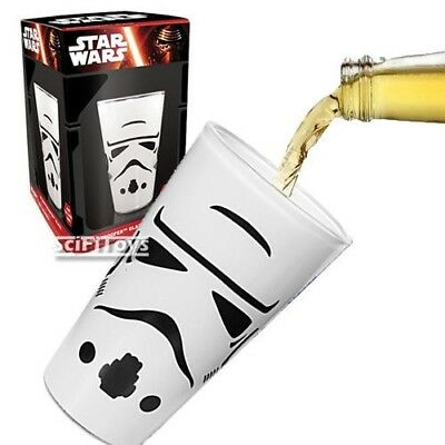 Star Wars Stormtrooper Pint Glass Drinking Beer Mug Cup Tumbler 480ml Gift