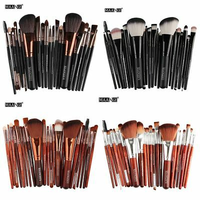 22PCS Kabuki Make up Brushes Set Makeup Foundation Blusher Face Powder Brush~
