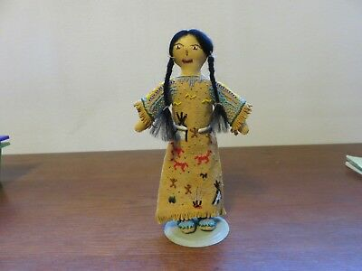 Rare Beaded Leather Indian Storyteller Doll - Plains