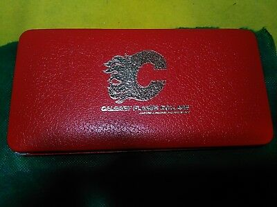 1982 Calgary Flames 6 brass token set with case and brochure