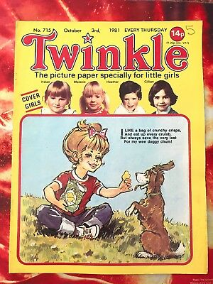 Twinkle  Comic No. 715. 3 Oct 1981. Puzzles Not Done. Vfn+