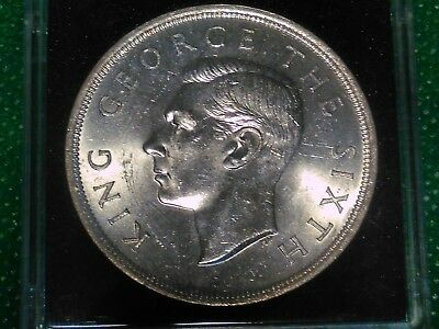 1949 New Zealand 1 Crown Silver Coin