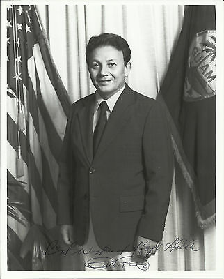 Paul Calvo - Governor of Guam Original Autographed 8x10 Signed Photo and Letter