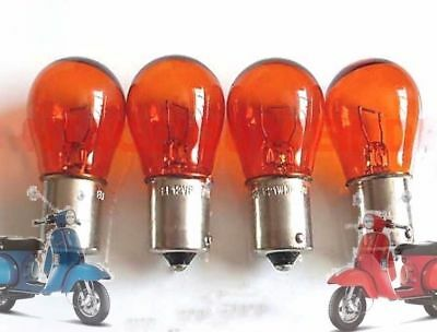 Vespa Px Lml Star Stella Anzeige Blinker Bulb Set 4 Amber Orange