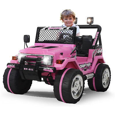 Kids Ride On Car Jeep 12V Electric Power Wheels Remote Control MP3 LED Light Toy