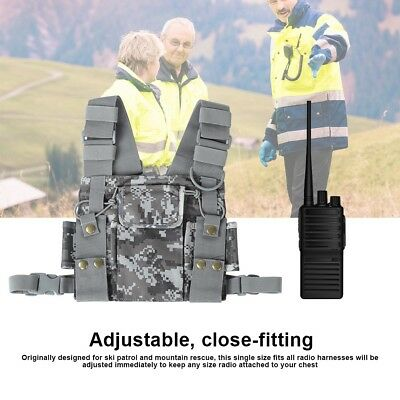 Chest Harness Front Pack Pouch Holster Case for Baofeng UV-5R/UV-82/BF-888S/GT-3