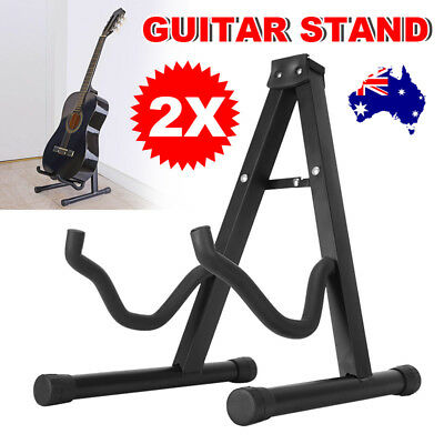 2 Folding Electric Acoustic Bass Portable Guitar Stand Floor Rack A Frame Holder