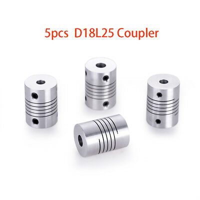 3pc 9.5MM x 10 MM Flexible Shaft Ballscrew Coupler Coupling Linear Motion 20D25L