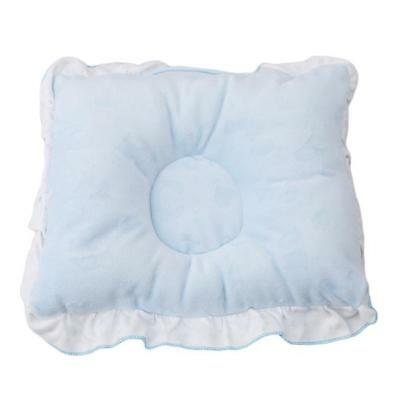 Newborn Infant Baby Pillow Prevent Anti Roll Flat Head Neck Cushion Pillows LC