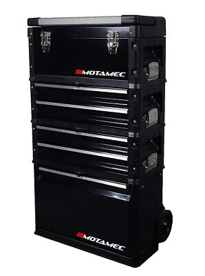 Motamec Modular Tool Box Trolley Mobile Cart 4 Module Stack Cabinet Chest C41H