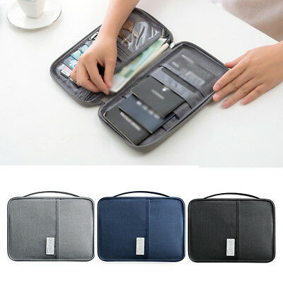 Travel Wallet Passport Holder RFID Organiser Pouch for Cards Documents Money ID