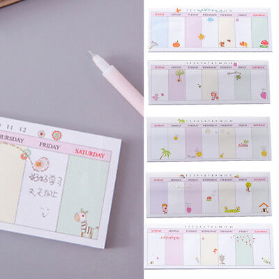 Weekly Planner Agenda Material School Office Supply Stationery Mini Notebook