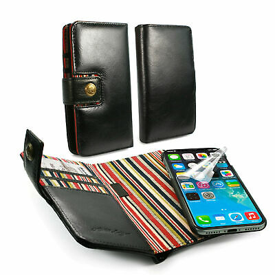 Alston Craig Genuine Leather Magnetic Wallet Case for iPhone XR Black