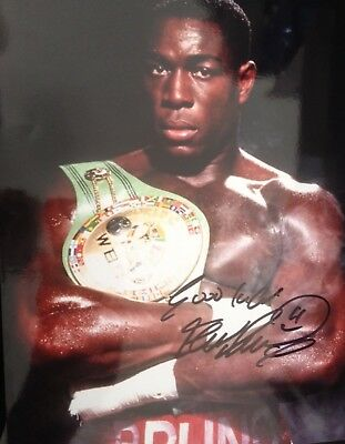 Frank Bruno - Former World Champion Boxer - Excellent Signed Colour Photograph