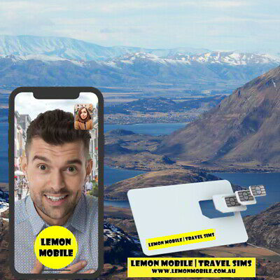 15 Days New Zealand/Australia Travel SIM Card -Unlimited Data - $1.7 per day