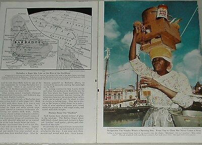 1952 magazine article about Barbados, history, sugar cane, natives etc
