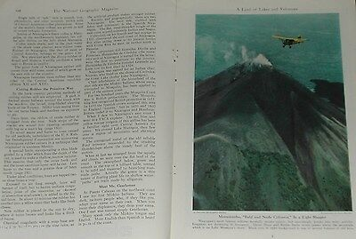 1944 magazine article about NICARAGUA, history, people, wildlife, color photos