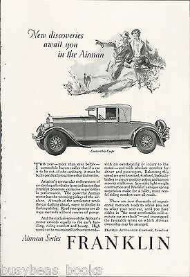 1928 FRANKLIN advertisement, Franklin AIRMAN Convertible Coupe