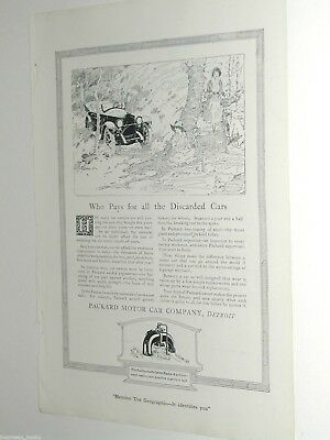 1920 PACKARD advertisement, Packard Motor Car Company, people on a picnic