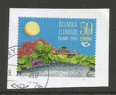 ICELAND 2016 THE NORDIC KITCHEN ON A PIECE, SCOTT 1463, USED (o)