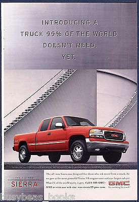 1999 GMC SIERRA Pickup advertisement, extended cab, red of course GMC