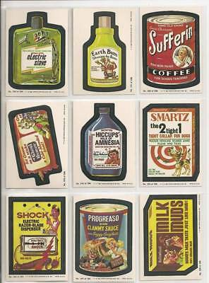 1980 Topps Wacky Packages Complete 3rd Series 3 66 Sticker Card Set EX+