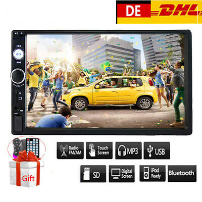 """7"""" Doppel 2DIN Autoradio Bluetooth HD Car Stereo Touch MP5 Player FM AUX USB IN"""