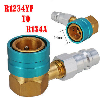R1234YF To R134a Low Side Quick Coupler Angle Head Connector Car Air Conditioner