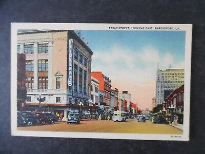 1940s Shreveport Louisiana Street Scene Postcard