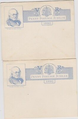 2 X Penny Post Jubilee 1890 & 2 X Envelopes [ Bit Worn ]