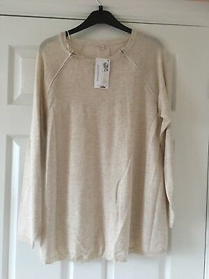 New    Maternity & Beyond easy  Feeding Jumper Top Size  14