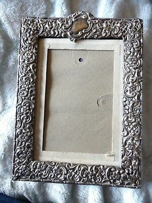 Victorian Ornate Sterling Silver Floral Hallmarked Photo Frame L495