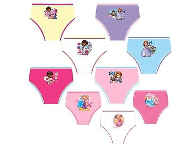 Girls 3 Pack Disney Princess Character Knickers Underwear Pants Briefs Multipack