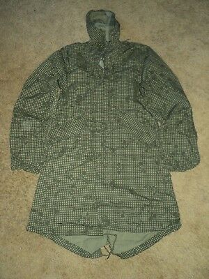 Vintage Authentic Us Military Issue Night Camo Desert Parka X-Small Nos