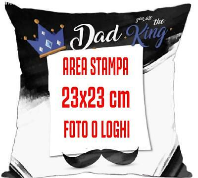 Cuscino Festa del Papa' Dad King Personalizzabile 40x40 cm PS 10345