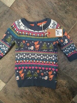 New Next Baby Girls Xmas  Jumpers Dress 3 - 6  Months  £15