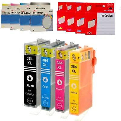 1 4 Cartuccia Compatibile No Originale Per Hp 364Xl Bk C M Y